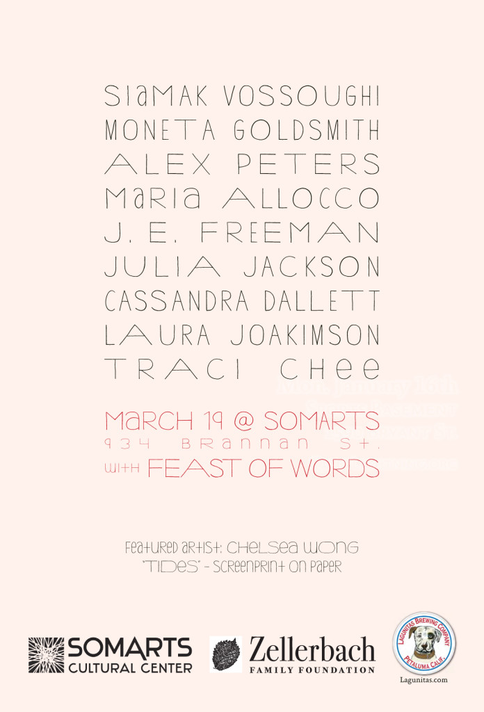 Quiet Lightning + Feast of Words on March 19th, 2013